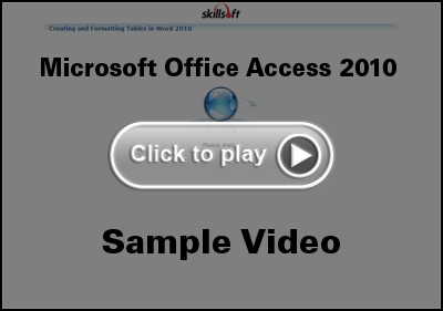 Microsoft Office Access 2010 Training Video