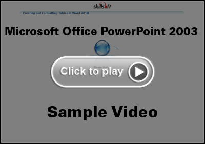 Microsoft Office PowerPoint 2003 Training Video