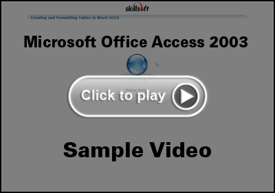 Microsoft Office Access 2003 Training Video
